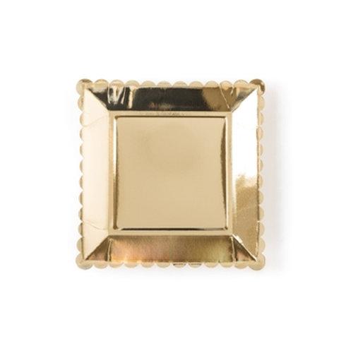 """Basic Plates 9""""-Gold"""