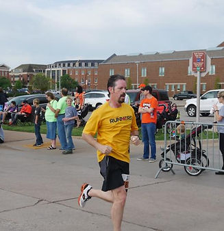 Ryan finishing strong at the Remember the Ten 5k in Stillwater, OK!