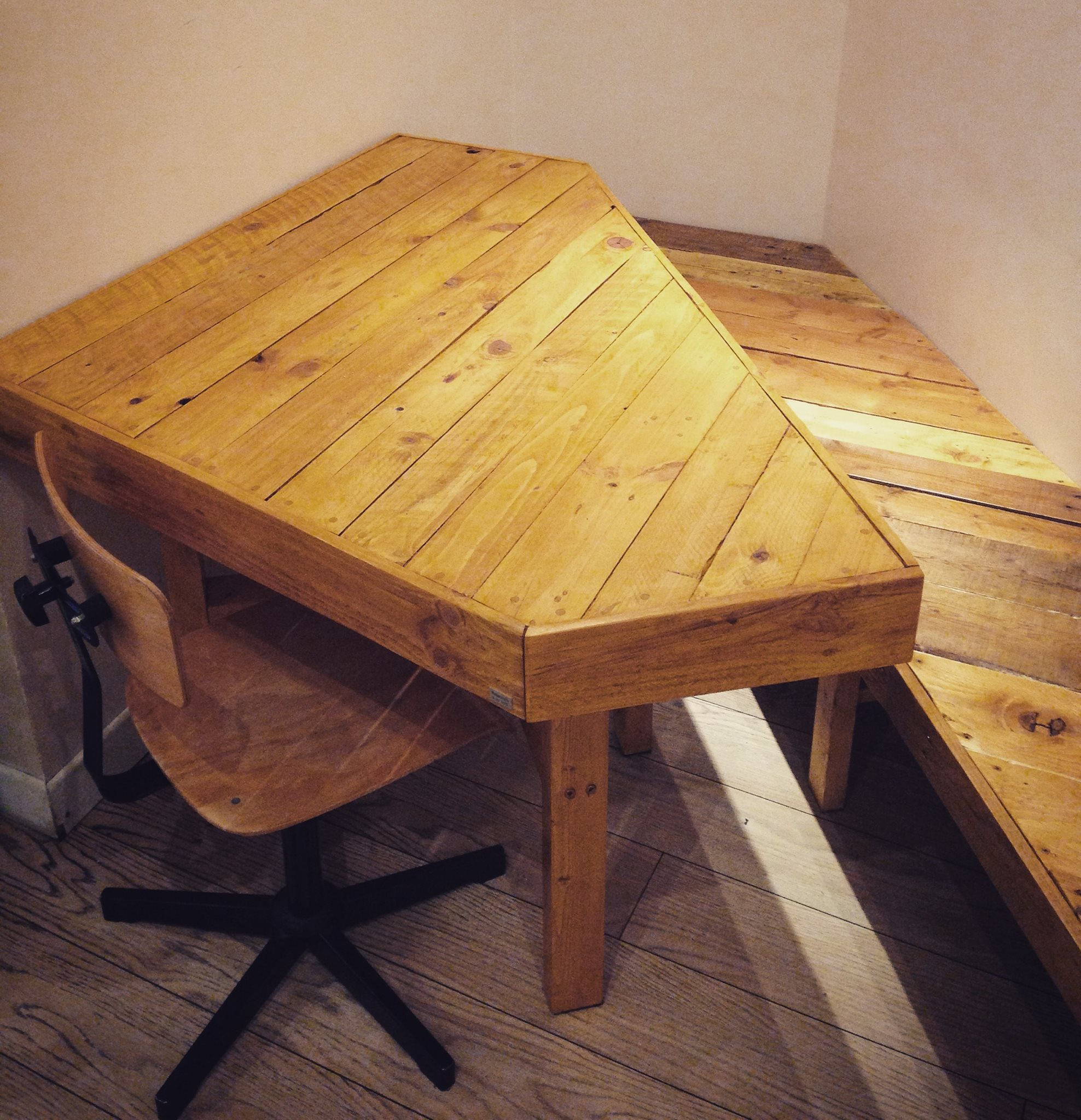Table et banc en palette