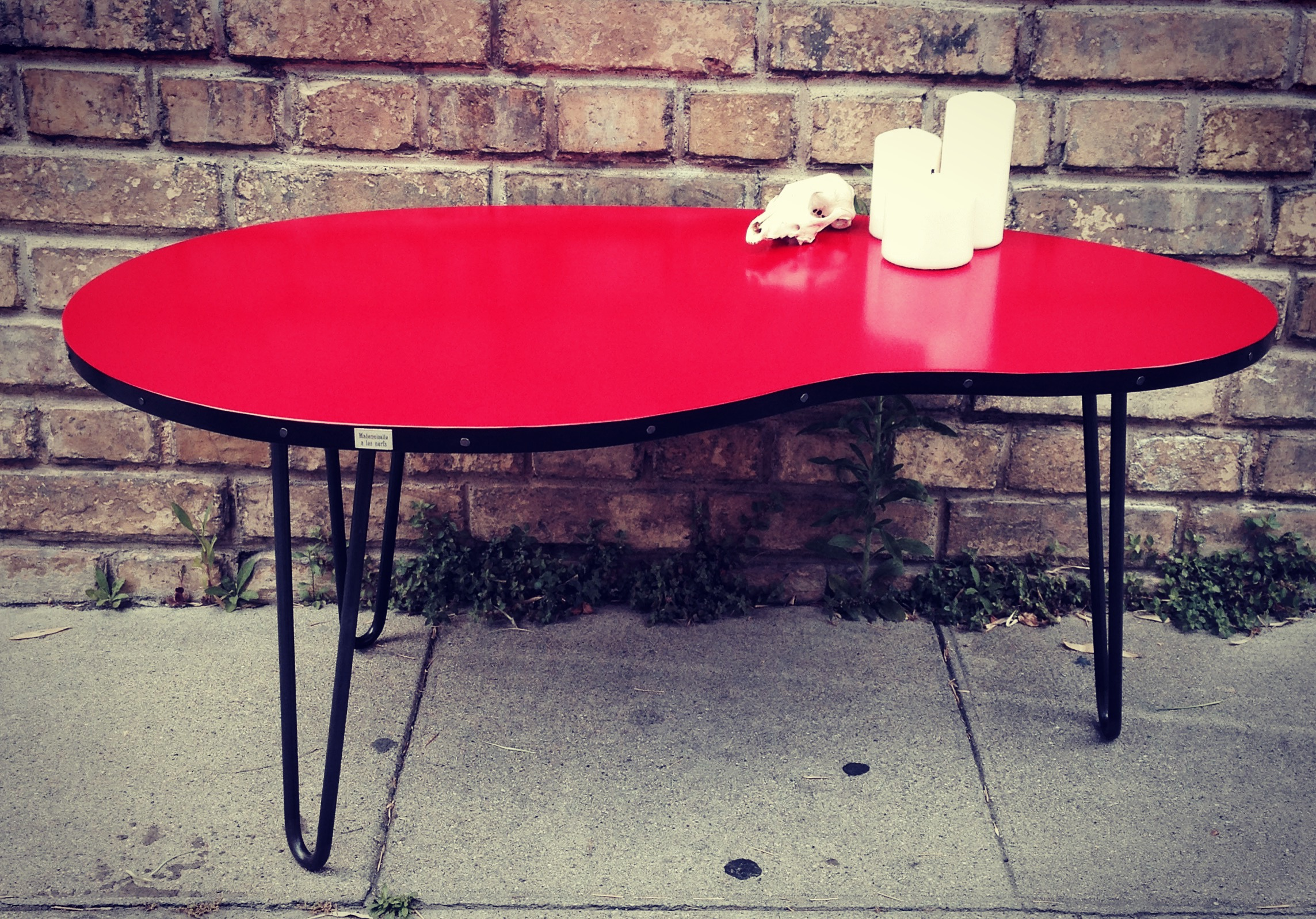 Table basse Haricot Red