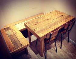 Table et banc en palette