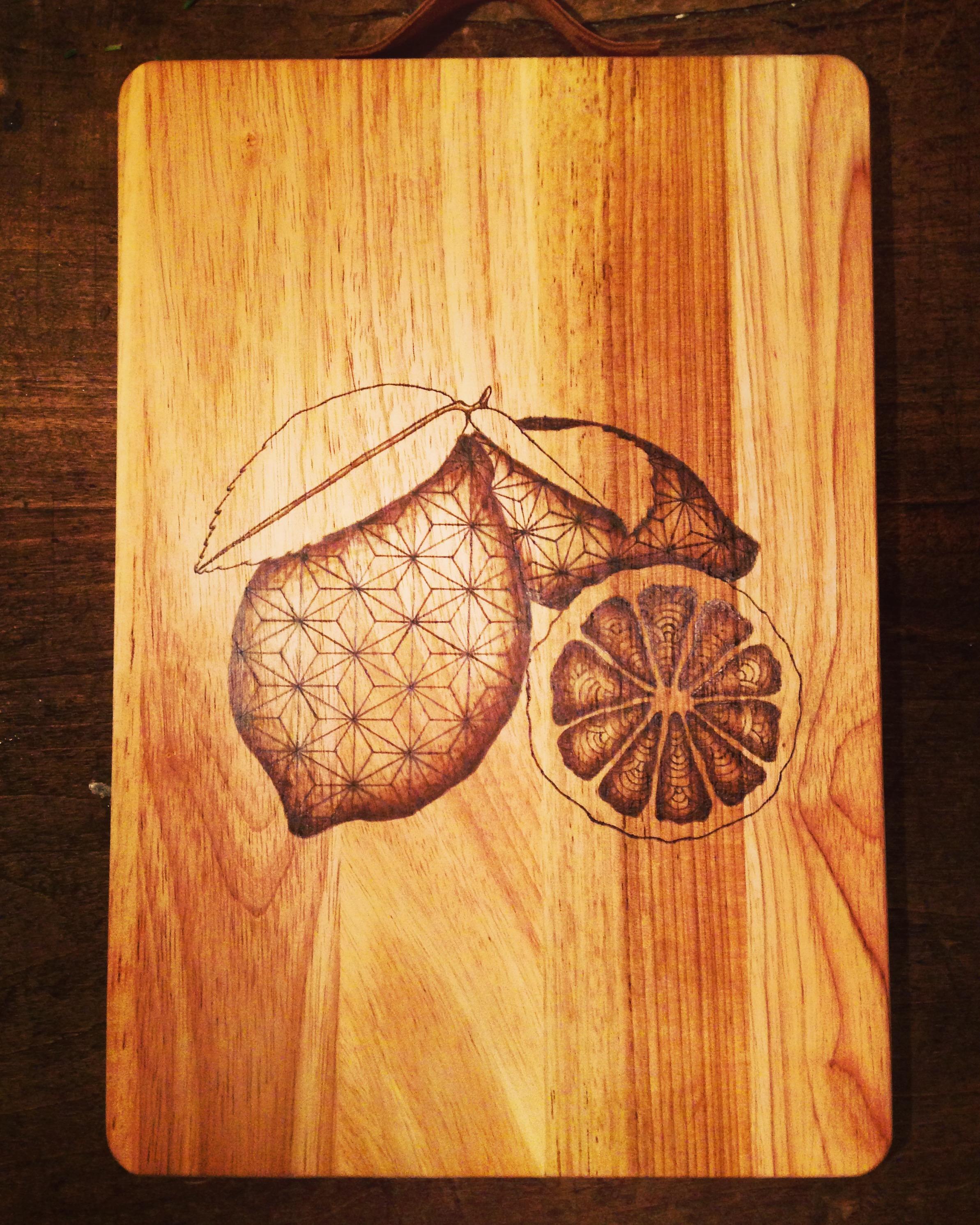 Planche à découper Citron