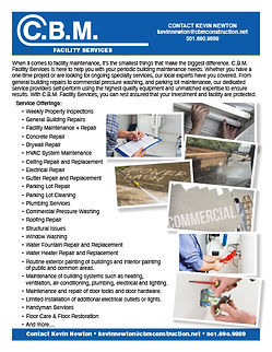 CBM Facility Services Flyer