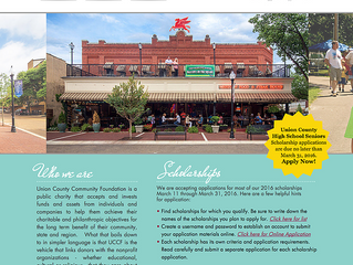 Congratulations to Group Five West Client Union County Community Foundation on Their New Website!