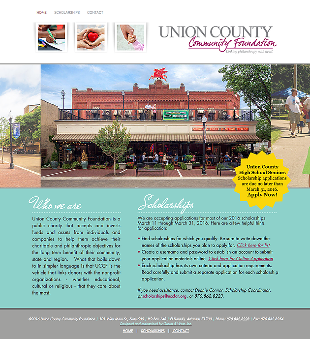 Union County Community Foundation Website