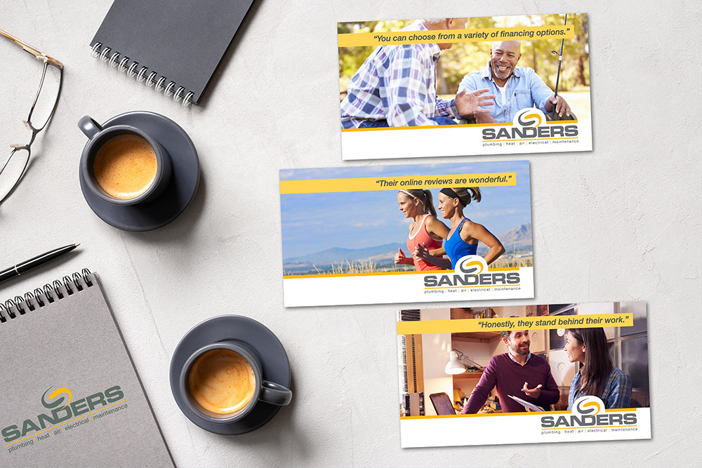 Sanders Plumbing print marketing