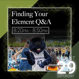 Finding Your Element Q&A event descripti