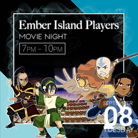Ember Island Players event description.