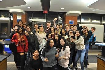 Innis International student community posing