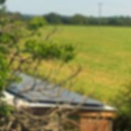 Solar power at Starnash Farmhouse
