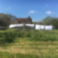 Laundry on the line at Starnash Farmhouse