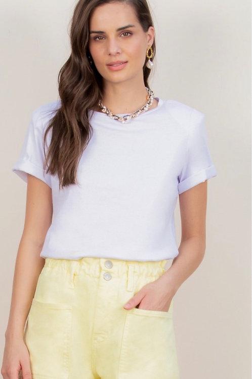 Blusa Jade com Ombreiras Branca