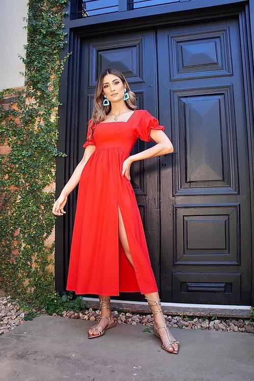 Vestido Luiza Vermelho