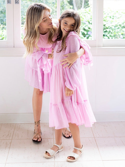 Vestido Micheli Kids Rosa