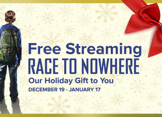 "Free Streaming of ""Race to Nowhere"""