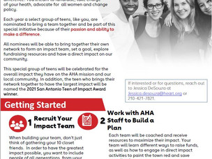 American Heart Association Teen of Impact Volunteer Initiative