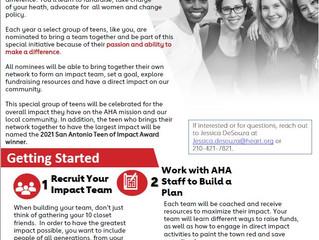 American Heart Association Teen of Impact Volunteer Initiative