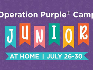 FREE Operation Purple Camp Junior at Home for Military Kids:  July 26-30th