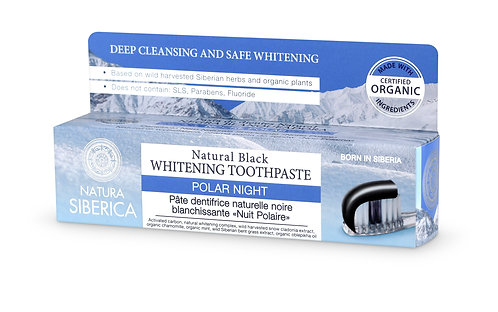 Natural Black Whitening Toothpaste Polar Night - Bamboo Coal from Kuril Islands