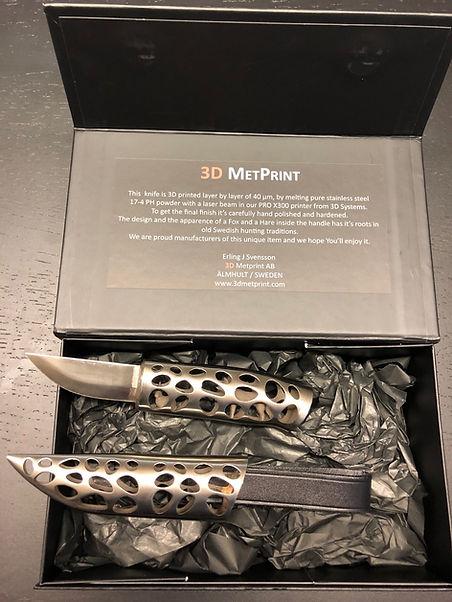 Kniv,Hare_Räv, 3D Metprint, 3D Metallprintning, 3D print,