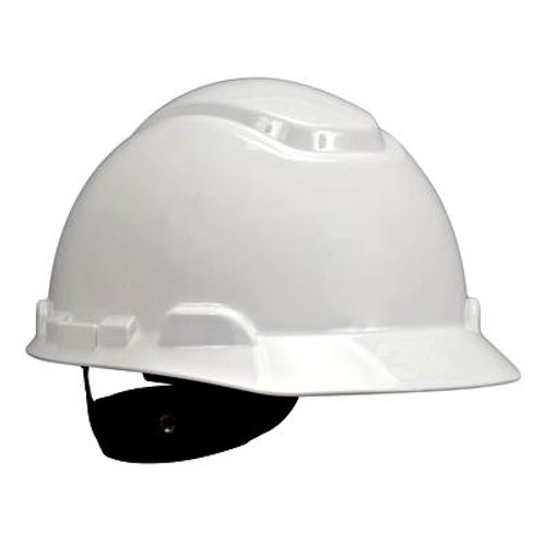 3M Hard hat with Uvicator White 4-Point Ratchet Suspension (H-701R-UV)