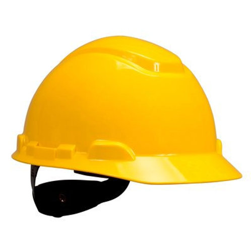 3M Hard Hat with Uvicator Yellow, 4-Point Ratchet Suspension (H-702R-UV)