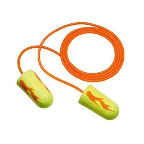 3M E-A-Rsoft Yellow Neon Blast Earplugs Corded (311-1252)