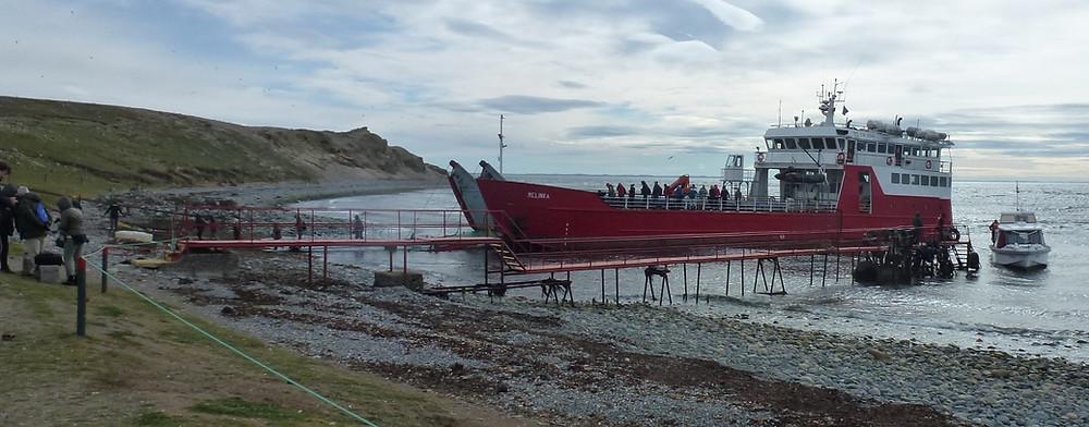 Melinka ferry boat at Magdalena Island