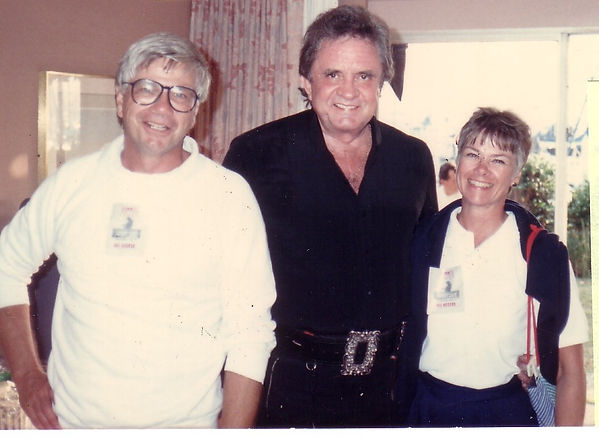 Tom Blake Johnny Cash and Pam
