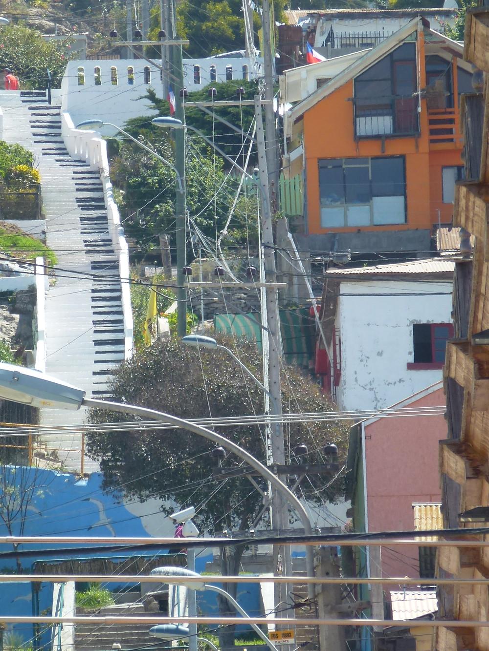 Coquimbo Chile piano key steps