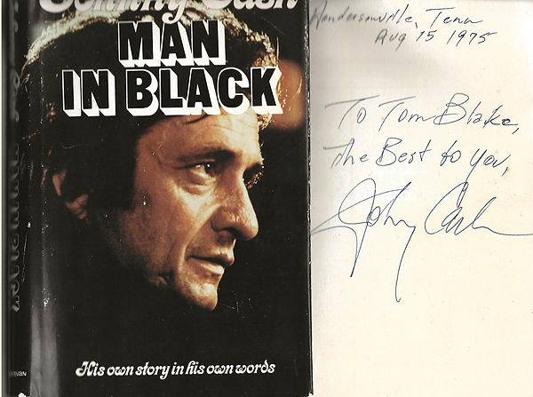Johnny Cash signed Man In Black