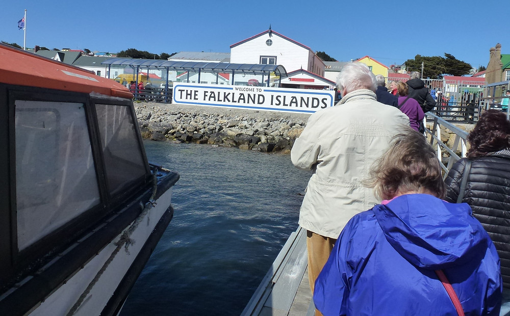 Falkland Islands welcome to sign