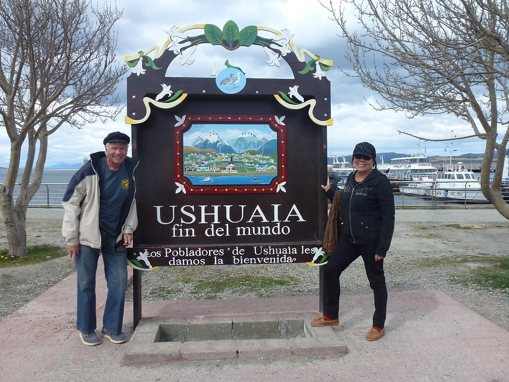 Ushuaia fin del mundo sign