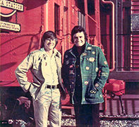 Tom and Johnny Cash 1975 at Victoria Station Newport Beach California