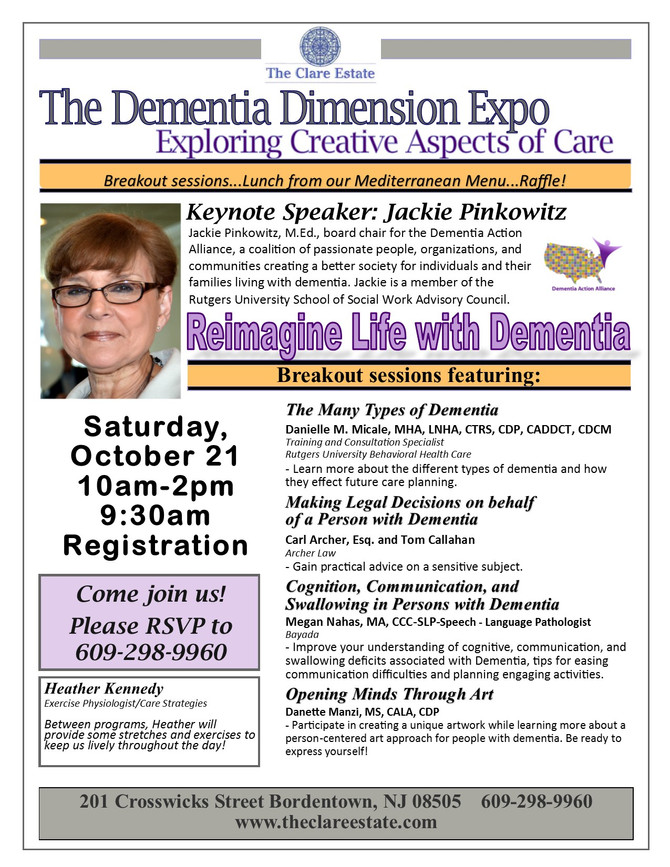 Register for Our Dementia Dimension Expo!