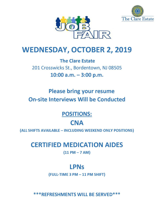 Job Fair | Wednesday, October 2