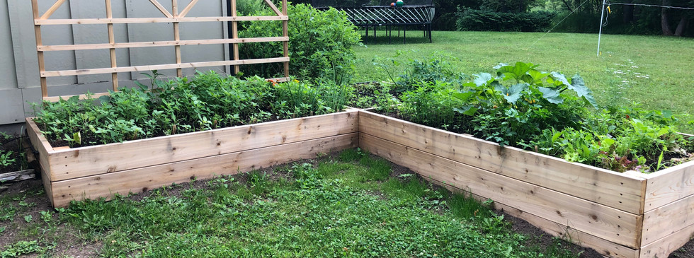 Custom 'L' Shaped garden with a trellis