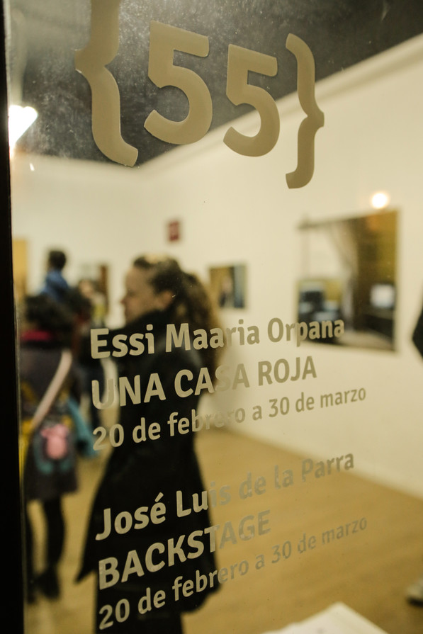 Exhibition opening in Galería Espacio 55 in Valencia, Spain