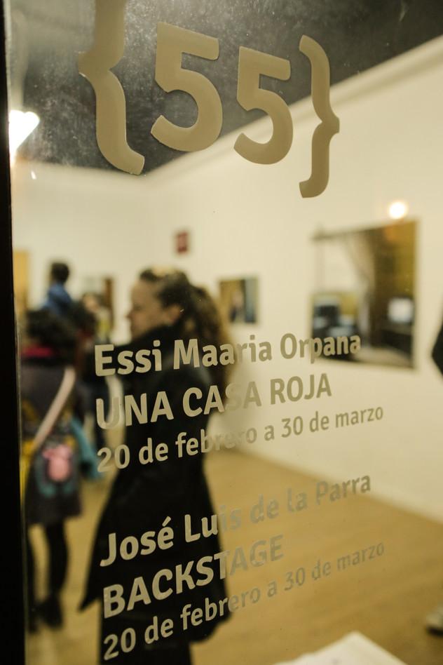 Exhibition opening in Galería Espacio 55 in Valencia, Spain