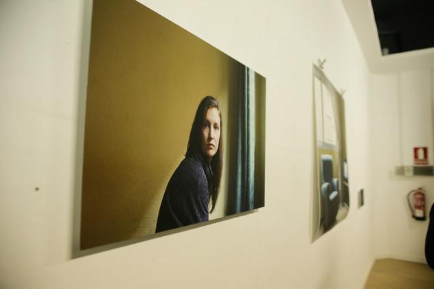 Installation view from Galería Espacio 55 in Valencia, Spain