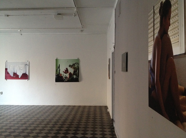 Installation view from Love is a working title in B-Gallery, Turku, Finland