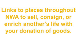 Sell, Consign, or Donate Goods