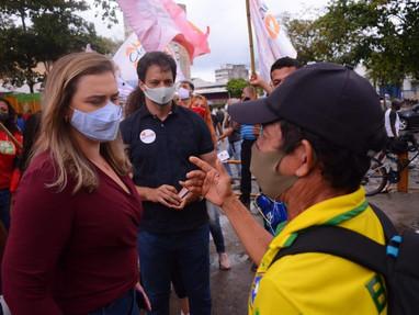 Marília vai à Estação Central do Recife e reforça compromisso com a mobilidade