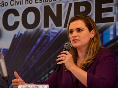 Em sabatina na Sinduscon, Marília defende parceria entre projetos da PCR com setor da construção