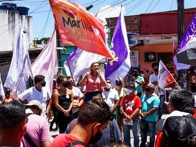 Marília Arraes promete erradicar um terço dos pontos de risco nos morros do Recife nos dois primeiro
