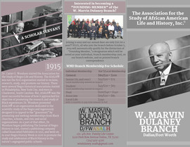 W. Marvin Dulaney DFW ASALH Branch Library Brochure