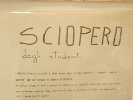 volantino del movimento studentesco anni '70