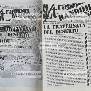 A/traverso, inverno 80/81. Foglio Creativo printed in black ink, cm. 22x16 pp. 15.