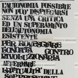 A/traverso, serie ottanta, Aprile 1979, numero due. Supplemento Erba Voglio. Foglio Creativo, printed in black ink, cm. 46x32,5 pp. 6.