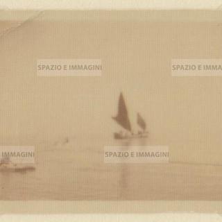 Adriatic sea. Original  vintage print, 30s. Gelatin silver print on barya paper cm. 7x 4,5. Found photo.